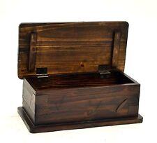 "Rustic Wood Box w/Lid, Brown Color-12"" L X 6""W x 4.5""H"