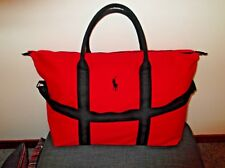 57173f7110 RALPH LAUREN Polo Red Men s Holdall Travel Gym Weekend Duffle Bag BRAND