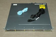 Cisco WS-C3750X-48T-S Switch w/ 2x C3KX-PWR-350WAC + C3KX-NM-1G 1 YEAR Warranty