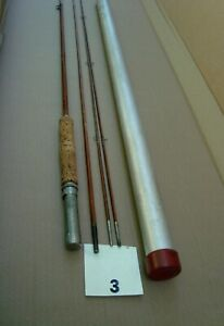Vintage Montague Leaping Brook Split Bamboo Fly fishing Rod (item # 3)