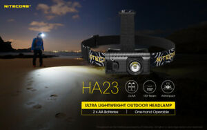 Nitecore HA23 250 lumens 56 Meters 2 x AA LED headlamp Compact Tough