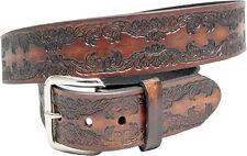 geprägter Wechelgürtel Schnalle Buckle Belt Made inUSA Harley Biker Western Rose