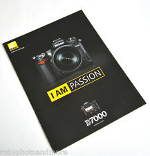NIKON D7000 DEPLIANT BROCHURE ORIGINALE IN ITALIANO!