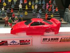 """Ho Slot Car Tyco red Ferrari F-40 """"body only"""" fits Tyco 440 wide & other chas."""