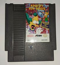 Krusty's Fun House Nintendo NES Simpsons Tested Authentic Free Shipping