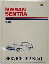 1986 Nissan Sentra Service Shop Repair Manual Model B11 Series