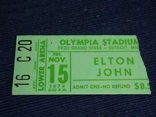 ELTON JOHN Kiki Dee 1974 CONCERT TICKET STUB OLYMPIA STADIUM DETROIT MI NOVEMBER