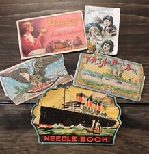 Vtg Sewing Society Broadway Army Navy Americana Needle Books Folders Epherma Lot