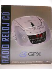Gpx D715 Am / Fm Stereo Radio Cd Player Digital Clock Radio with Dual Alarm Grey