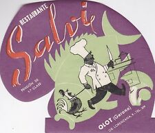 Spain Olot Gerona Restaurante Salvi Vintage Luggage Label lbl0553