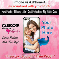 Customized Photo Selfie Custom Phone Case Cover For iPhone 4s  iPhone 4