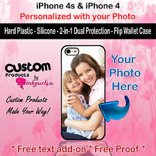 Customized Personal Photo Phone Case Cover Fits iPhone 4s 4