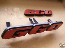 GOLF MK1 MK2 POLO CADDY CABRIO CORRADO G60 GRILLE BADGE + FREE G60 REAR BADGE