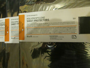 Set of Pina Zangaro Polypropylene Sheet Protectors-11x14 & 11x8.5 (10 Pack)
