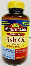 Nature Made FISH OIL 1000 mg with OMEGA-3 Support Heart 150 Softgels- M1