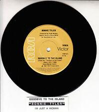 "BONNIE TYLER  Goodbye To The Island 7"" 45 rpm record + juke box title strip NEW"