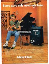 2003 HARTKE Amps & Cabs WAYNE PEDZWATER Vtg Print Ad