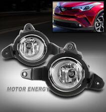 FOR 18-19 TOYOTA C-HR CHR BUMPER DRIVING FOG LIGHTS LAMPS KIT CHROME LEFT+RIGHT