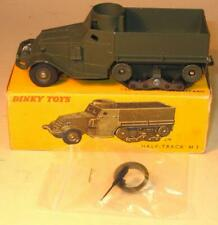 FRENCH DINKY TOYS No 822 WHITE M3 HALF TRACK 1963-65. EXCELLENT BOXED