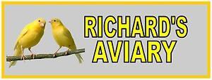 Aviary Sign Canary sign Garden Aviary Canary Sign Bird Room Sign