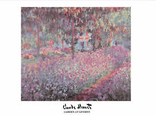 Garden at Giverny - Claude Monet - Fine Art Giclee Print Poster (60 x 80)