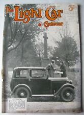 The Light Car Magazine 10 Nov 1933 Triumph Gloria & Morris 10/6 Saloon Tests