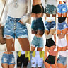 Womens Denim Ripped Shorts High Waisted Jeans Destroyed Casual Hot Pants Summer