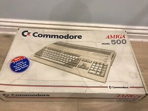Commodore Amiga 500 with PSU and original box, For spares and repair