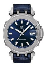 New Tissot T-Race Swissmatic Blue Rubber Strap Men's Watch T1154071704100
