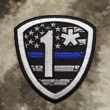 One Ass-To-Risk Thin Blue Line American Flag Shield Patch