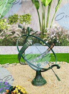 ☀ Sonnenuhr ☀ Patina-Farbe ☀ Metall ☀ für Außenbereich ☀