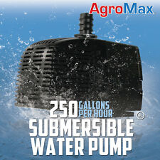 250 GPH SUBMERSIBLE WATER PUMP GALLONS PER HOUR HYDROPONICS xtreme cap fountain