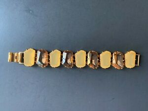 Kate Spade Set in Stone Bracelet-Chunky amber color glass and lucite stone-Rare