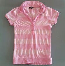 Polo rosa a strisce S maniche corte nuova