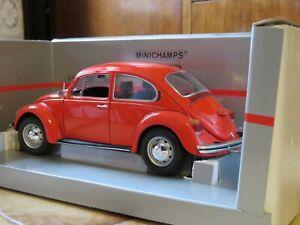 Modellauto MINICHAMPS VW KÄFER 1200L, 1983, rot, Neu, Originalverpackt