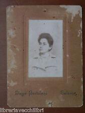 Vecchia foto su cartoncino inizi 900 fotografia antica DIEGO BERTOLANI SALERNO