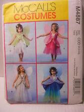 Sewing Pattern McCalls M4887 Child Fairy Princess Costumes Girl Size 2-5