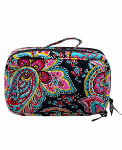 Vera Bradley Parisian Paisley Blush & Brush Cosmetics Make-up Case Zippered Bag