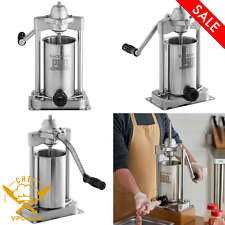 5 Lb Stainless Steel Commercial Vertical Manual Meat Sausage Stuffer Machine New