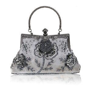 Evening Handbags Vintage Womens Bag Bead Clutch Wedding Party Prom Purse Handbag