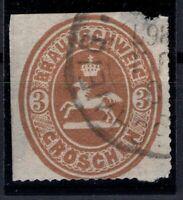 P135632/ OLD GERMANY - BRAUNSCHWEIG - BRUNSWICK – MI # 20 USED – CV 220 $