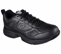 Skechers Shoes Black Memory Foam Work Men Comfort Slip Resistant EH Safety 77111