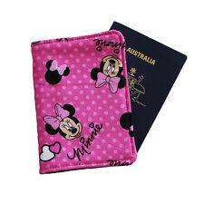 PASSPORT COVER/FOLDER/WALLET made from MINNIE MOUSE* fabric by Graggie Aus. *GA