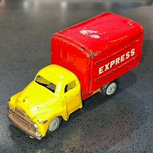 Vintage Antique Metal Toy Truck Express Engine Sound when rolling Good Condition