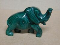 Natural Stone, Hand Carved, Malachite Elephant,      #12
