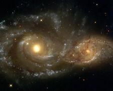 HUBBLE ENCOUNTER BETWEEN TWO GALAXIES 8x10 PHOTO NASA