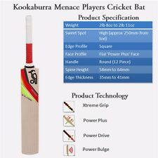 Kookaburra Menace Pro 45 Kashmir Willow Cricket Bat (SH)