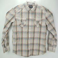 American Rag Cie Button Up Shirt Mens Large Multicolor  Long Sleeves Plaid Check