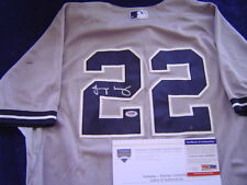 NEW YORK YANKEES JACOBY ELLSBURY GAME USED SIGNED AUG 25 2014 JERSEY STEINER PSA