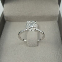 ENGAGEMENT 3.00 CT F VS2 ROUND CUT DIAMOND SOLITAIRE RING 14 K WHITE GOLD